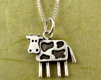Tiny cow necklace / pendant