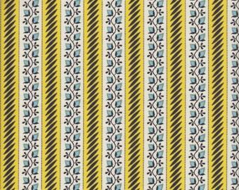 Free Spirit Fabrics Denyse Schmidt New Bedford Floral Stripe in Sun - Half Yard
