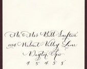 Custom order Sarah - calligraphy envelope addressing