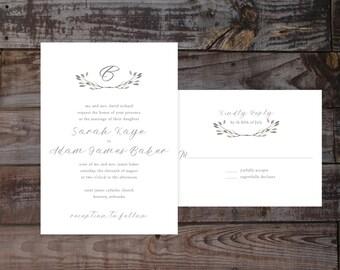 Vintage Invitations, invitation templates, Floral Wedding Invitations, Vintage Wedding Invitations, Garden Wedding Invitations, Watercolor
