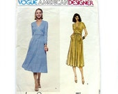 HOLIDAY SALE 1970s Vogue American Designer Original Sewing Pattern 1927 High Waisted Dress Jerry Silverman / Size 12 UNCUT Ff