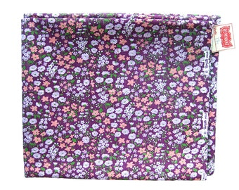 1950s 1960s Vintage Fabric - Small Print Floral Cotton Print - Purple Floral from Wamsutta Mills / 100% Cotton Yardage