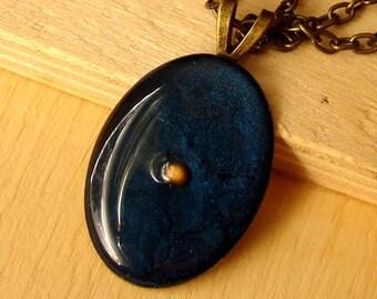 Mustard Seed Necklace - Antique Brass Mustard Seed Necklace - Mustard Seed Jewelry - Mustard Seed Faith - Navy Blue Mustard Seed Necklace