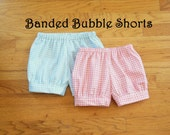 Banded Bubble Shorts for toddler boys OR girls - Choose your own fabric - 12 months to size 6