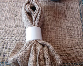 Linen Napkins, natural dyed, handwoven