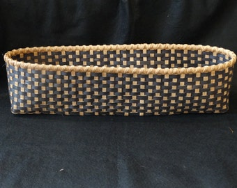 Hand Woven Basket in Black and Traditional Walnut. Storage Basket. Large Storage Basket. Basket. Hand Made Baskets in fun colors!