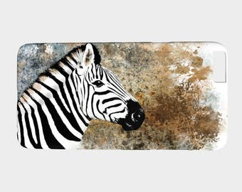 Cell Phone Case telephone Zebra - Iphone 7, 6/6s, Plus, 5/5s, Samsung Galaxy S7, S6, Edge, S5, S4, S3 art by L.Dumas