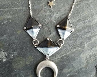 Black & White Ombre Patina Alchemy Necklace