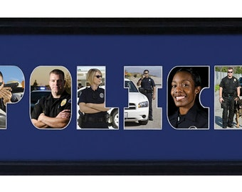 Police Word Photo Collage (mat only)