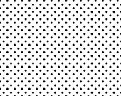 Black small dots on white 1 yard CL knit