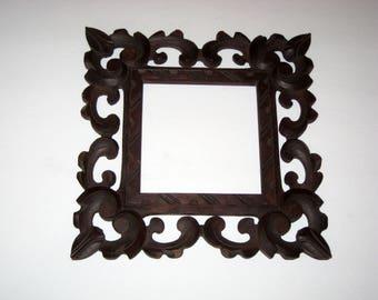 Small Vintage Ornate Wooden Frame