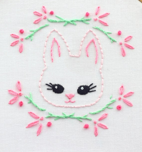 Baby girl embroidery design pattern hand