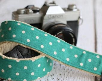 dSLR Camera Strap. Linen Camera Strap. Camera Strap. Polka Dot Camera Strap. Custom Camera Strap. Padded Camera Strap. Cute Camera Strap.