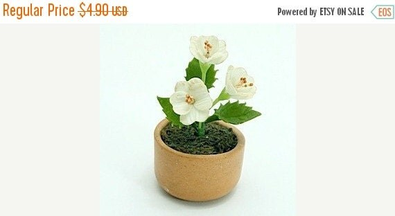 Miniature Polymer Clay Flowers Supplies for Dollhouse and Handmade Gifts Dogwood