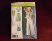 Uncut Simplicity Pattern 4192 Wrap Around Pants, Shorts, Kimono Top, Bra Top, Knit Top