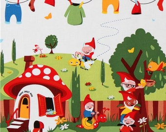 145014 Michael Miller fabric Gnomeville gnomes dots