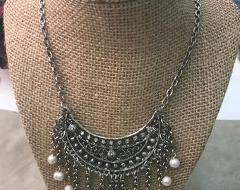 Bib Pendant drop necklacke , made in USA, each