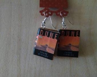 Mini Dune Earrings - Book Jewelry- Handmade Book Earrings - Mini Book Jewelry -  Mini Book Earrings