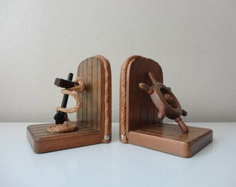 VINTAGE nautical style BOOKENDS