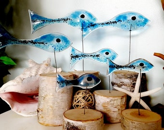 Fused Glass Fish Grouping
