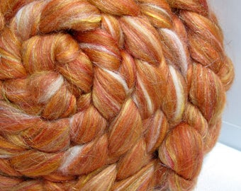 SUPER Sale Merino 18.5 Micron/Mulberry Silk/Baby Camel/Firestar 42/28/15/15 Combed Top - 5oz - Tupelo Honey