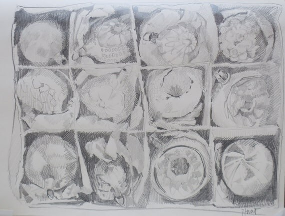Drawing Sketch #69 original sketch by South Carolina artist Linda Hunt