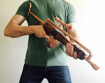 Steampunk rifle cosplay prop