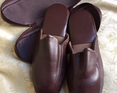 Size L Men's Travel Slippers in Pouch