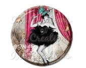 """15% OFF - Pocket Mirror, Magnet or Pinback Button - Wedding Favors, Party themes - 2.25""""- Vintage 1920s Life of the Party MR111"""