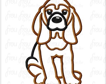 "Bloodhound Dog Digital Embroidery Design Machine Applique 4""-16"""