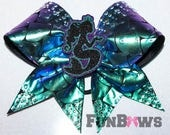 WOW - Amazing New Rhinestone Mermaid Cheerleading Allstar bow by FunBows ! Check out our entire new Mermaid collection !