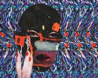 Magic Eye IV / Collage Print /  Illusion / Collage Art (sizes a4 - a3)
