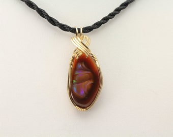 Fire Agate Pendant. Listing 497077185