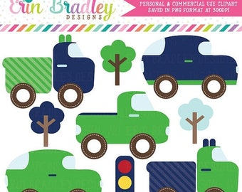 50% OFF SALE Cars and Trucks Clipart Boys Transportation Clip Art Graphics Set Commercial Use OK