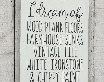 Farmhouse decor Fixer Upper style - 9 x 12 wood sign, Cottage white decor, distressed white, Fixer Upper gift, country cottage home