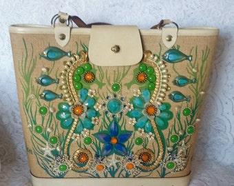 Enid Collins Vintage Handbag, Sea Garden II