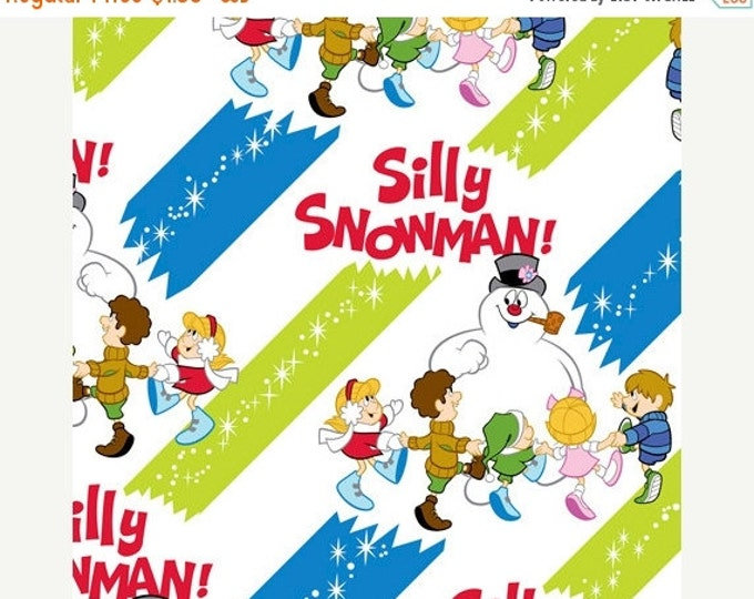 On Sale Christmas Fabric, Frosty The Snowman Frosty The Silly Snowman Holiday Fabric Diagonal Stripes