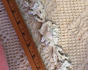 Rose and leaf firniture applique brown distressablr