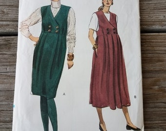 Women's Maternity Jumper Sewing Pattern, V-Neck, Raised Waist, Pleated Misses/ Petite Size 14-16-18 Uncut Very Easy Vogue 7926