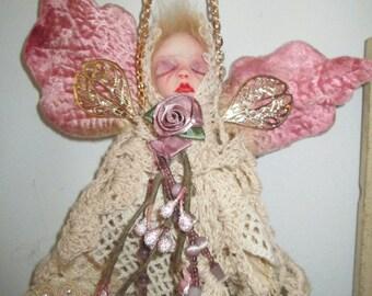 ooak fairy angel vintage laces  doll