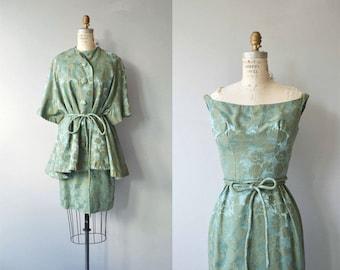Nephrite brocade dress & coat | vintage 1960s brocade dress | 60s dress and jacket