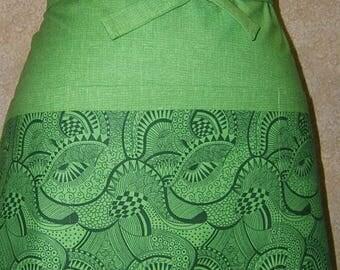 Apron Psychedelic Geometric doodles 3 pockets waist tie apron waiter waitress bartender barista farmers market gardening crating trim cotton