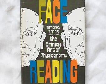 Vintage book Face Reading Chinese Physiognomy hardback 1970s