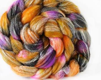 Desert Rose 4 oz Panda Top Merino/ Bamboo/ Nylon Superwash roving for spinning