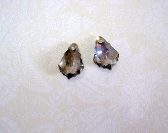 Swarovski Crystal Black Diamond Baroque Pendant - 16x11mm