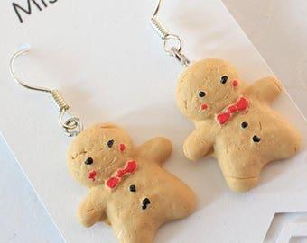 Gingerbread Man Earrings