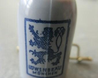 Vintage Tiny Plastic Beer Stein, Lowenbrau Plastic Pin, Tiny Beer Stein Pin, Made in Germany, Lowenbrau Munich, Miniature Beer Stein Pin