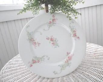 3 Vintage Limoges Plates * France * Pink Roses * Shabby Chic *