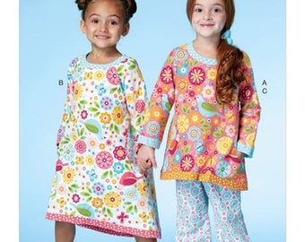 GIRLS SLEEPWEAR PATTERN / Nightgown - Nightie or Pajamas - Pjs / Sizes 2 to 5 or 6 tp 8