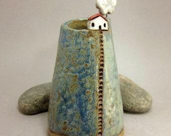Cloud Collector...Bud Vase/Pen Holder in Stoneware